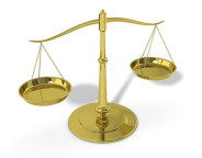 Gold Legal Scales of Justice