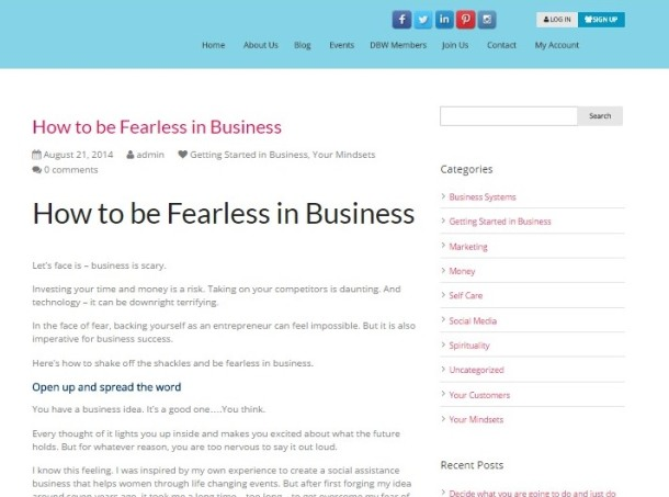 How to be Fearless in BusinessDynamic Business Women Dynamic Business Women (3)small