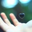 love heart, hand, floating, balance